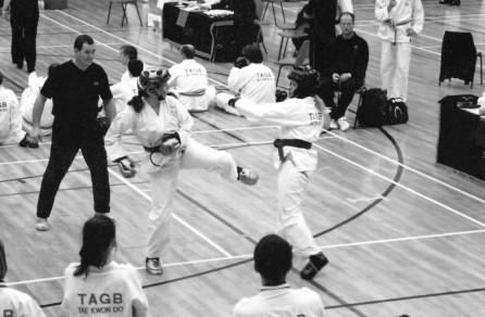 Annette sparring